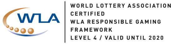 World Lottery Association Certified WLA Responsible Gaming Framework Level 4 / Valid until 2020